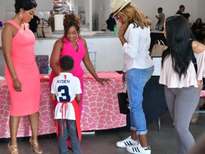 Phaedra and Son Ayden Host Pop-Up Shop for Charity